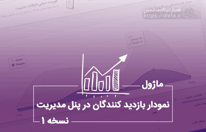 نمودار بازدیدکنندگان در پنل مدیریت نسخه 1